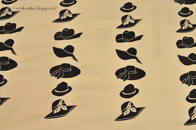 hattukangas, hattuja, kangas, mustavalkoinen, luonnollinen valkoinen, hats, hat fabric