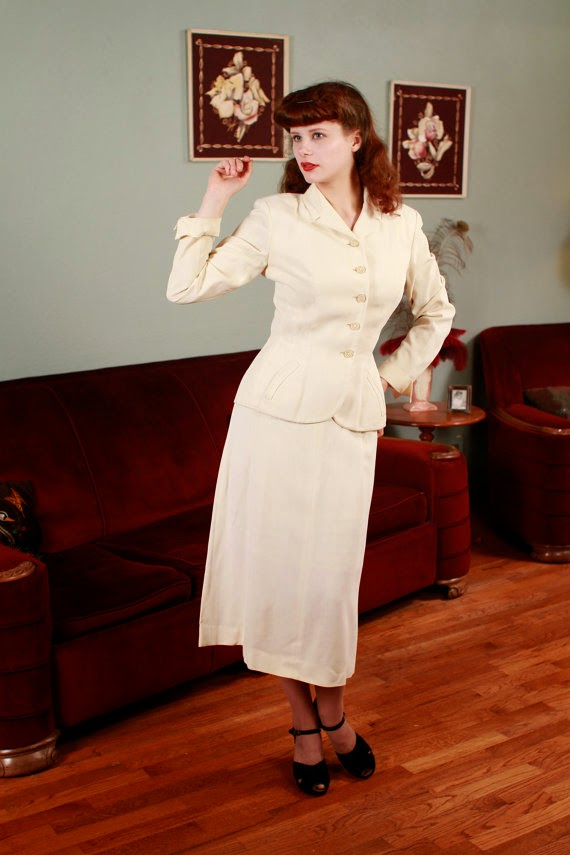 Vintage 1940s Suit - Affordable 1940s Wedding Dresses