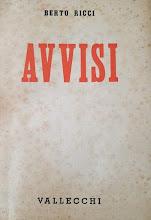 Berto Ricci -Avvisi - 3 settembre 1931