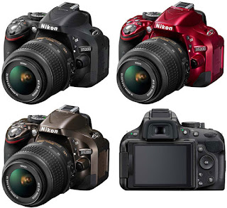 Nikon D5200 red, Nikon D5200 black, Nikon D5200 SLR, New Nikon camera 2013