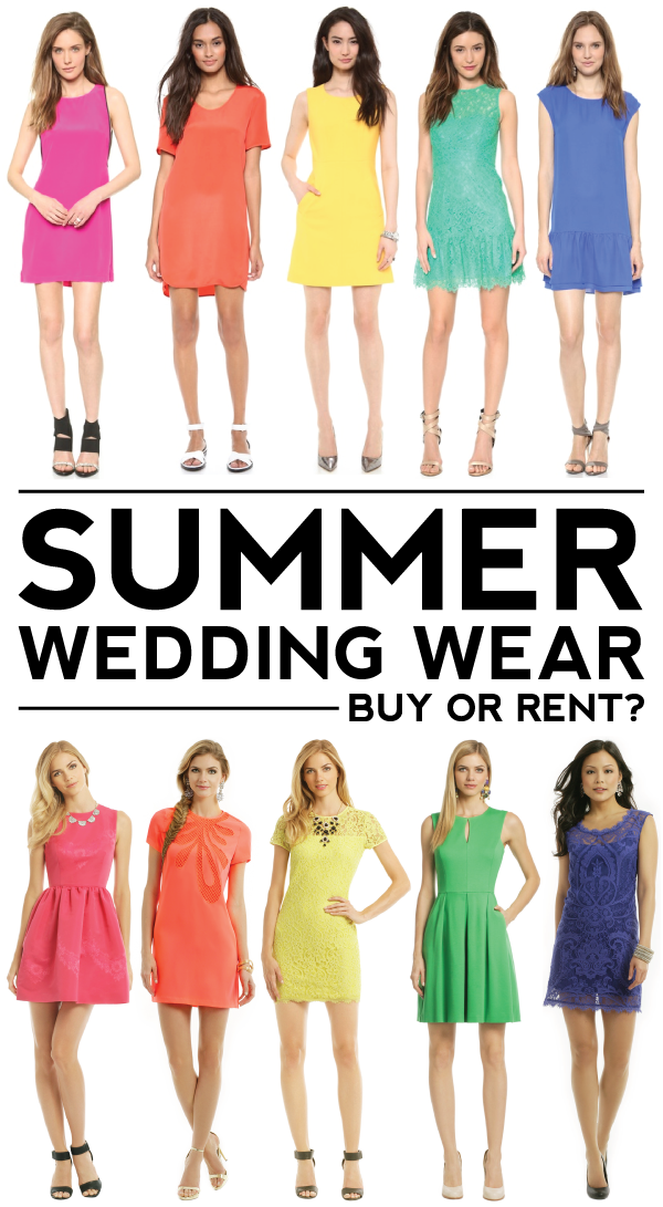 summer wedding wear: buy or rent?