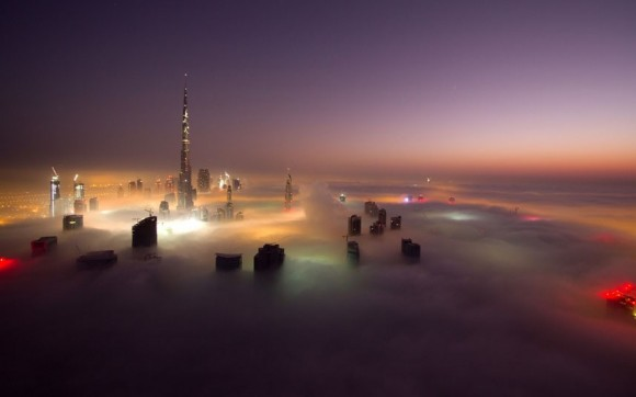 Dubai Through Fog: 15 Astonishing Photos of Dubai Skyscrapers Emerging Through Thick Fog