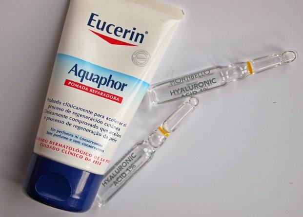 Eucerin Aquaphor y Montibello Hyaluronic Acid