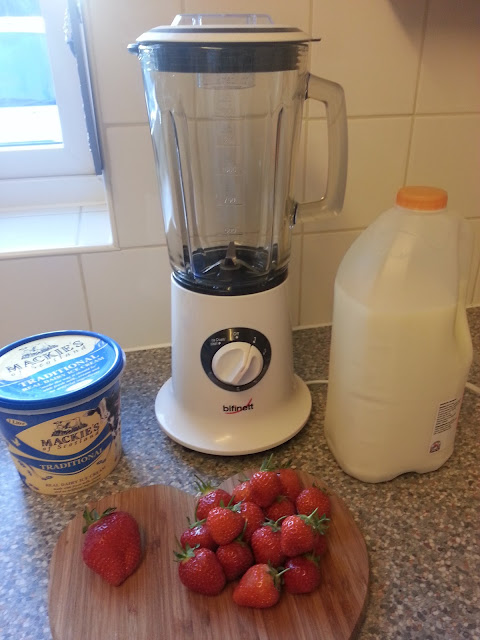 Strawberry Milkshake Ingredients