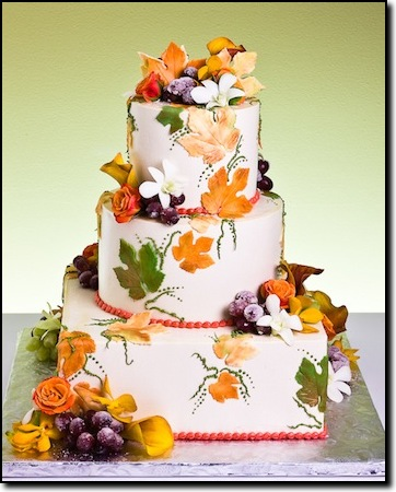 Autumn decorated cakes autumn crafts picture for Autumn cake decoration