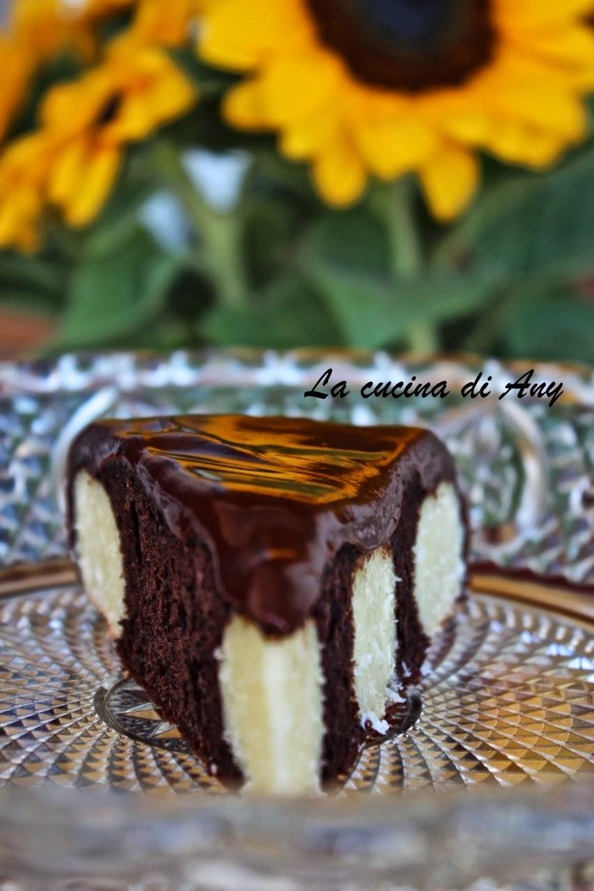 torta al cioccolato e palline di ricotta e cocco - prajitura cu ciocolata si bilute de branza si cocos