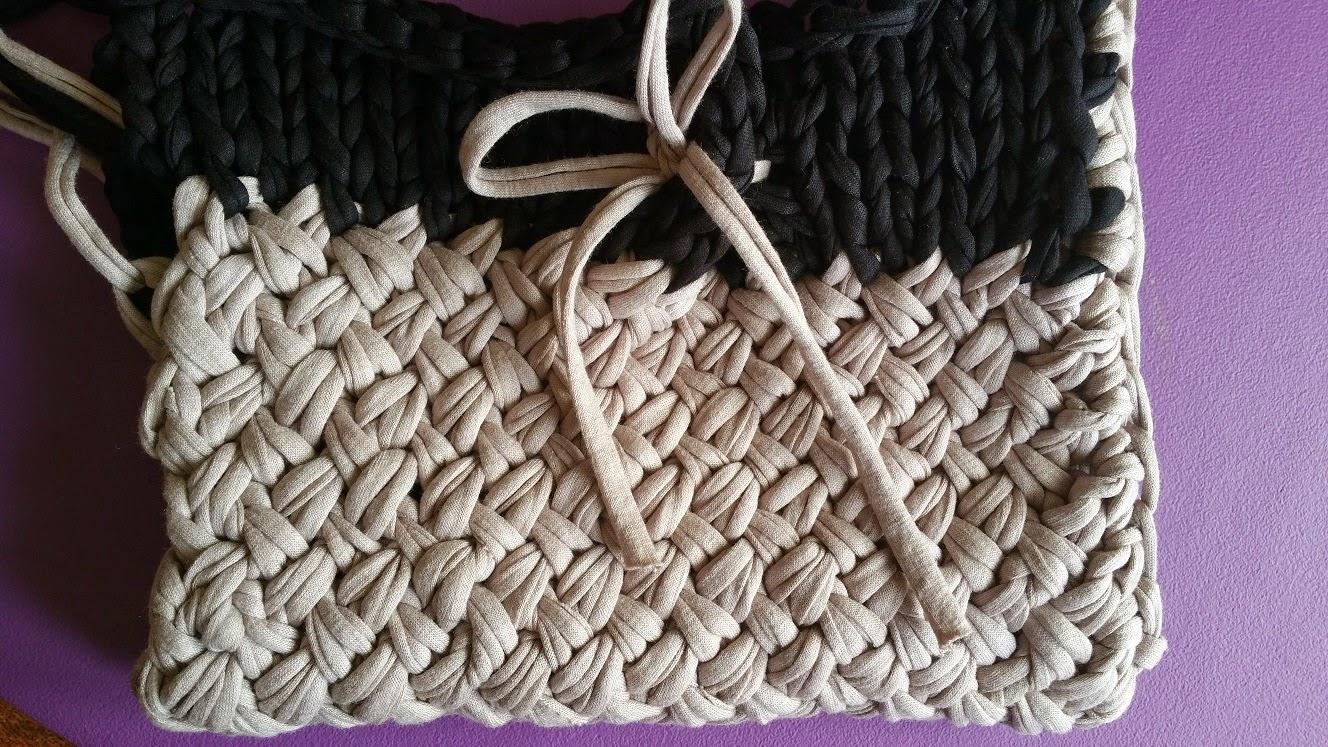 Artes anas trapillo a 2 agujas punto cruzado - Puntos crochet trapillo ...