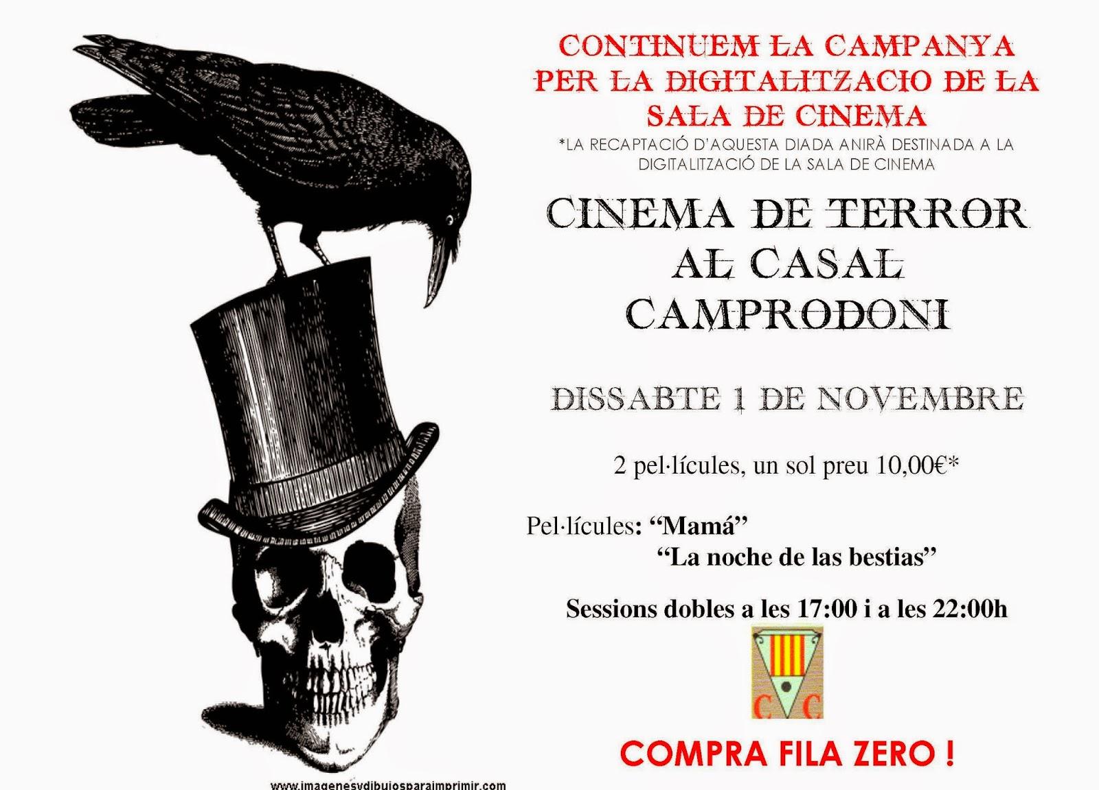 """HALLOWEEN%2BCASAL%2B2 El """"Terror"""" sapodera del cinema de Camprodon"""