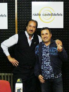 Foto del recital de poemas en RADIO CASTELLDEFELS junto a Josep Zepol