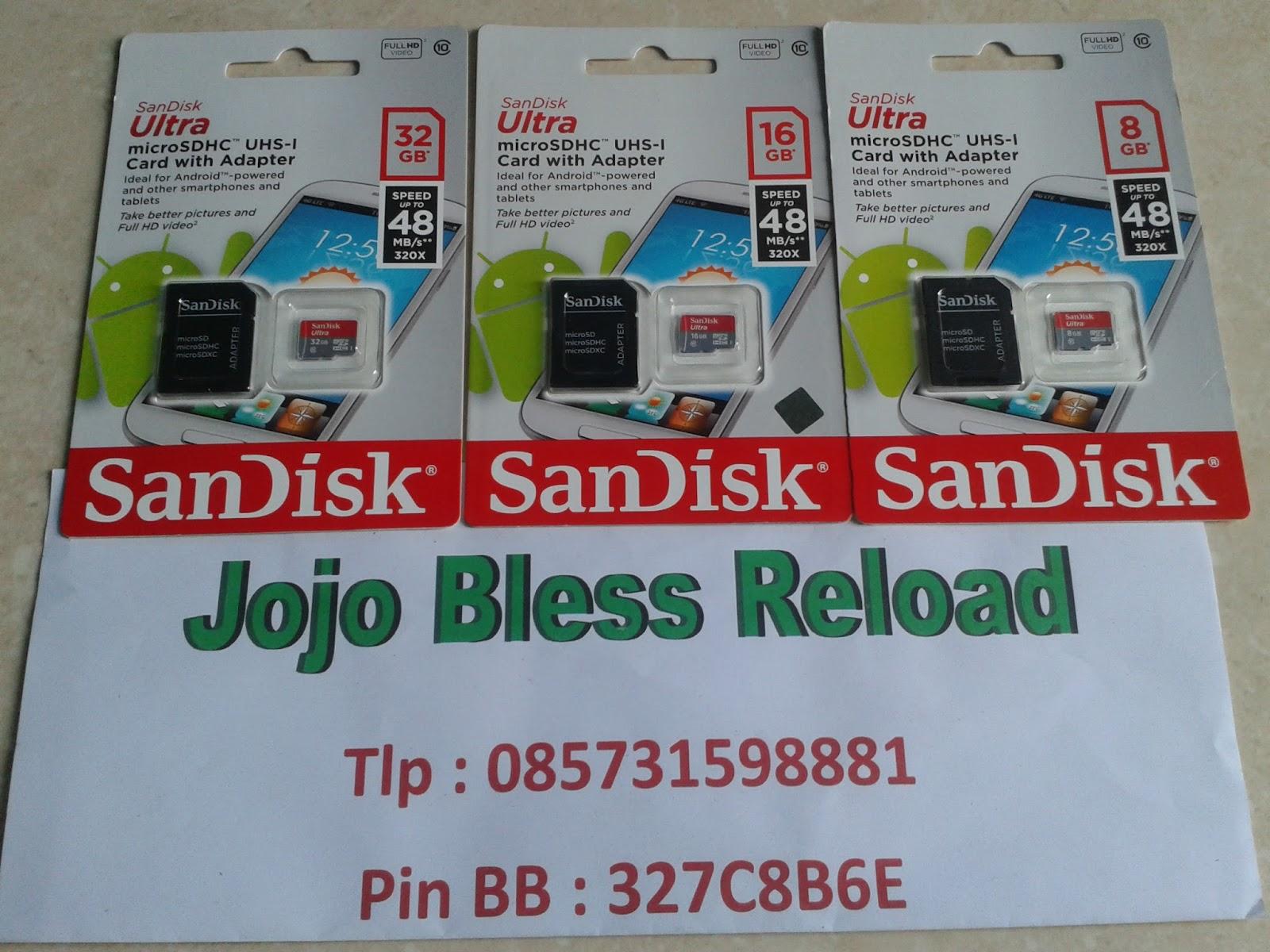 Aneka Memory Card Sandisk Ultra Microsd Class 10 48mb S Micro Sd 32gb No Adapter Garansi Resmi
