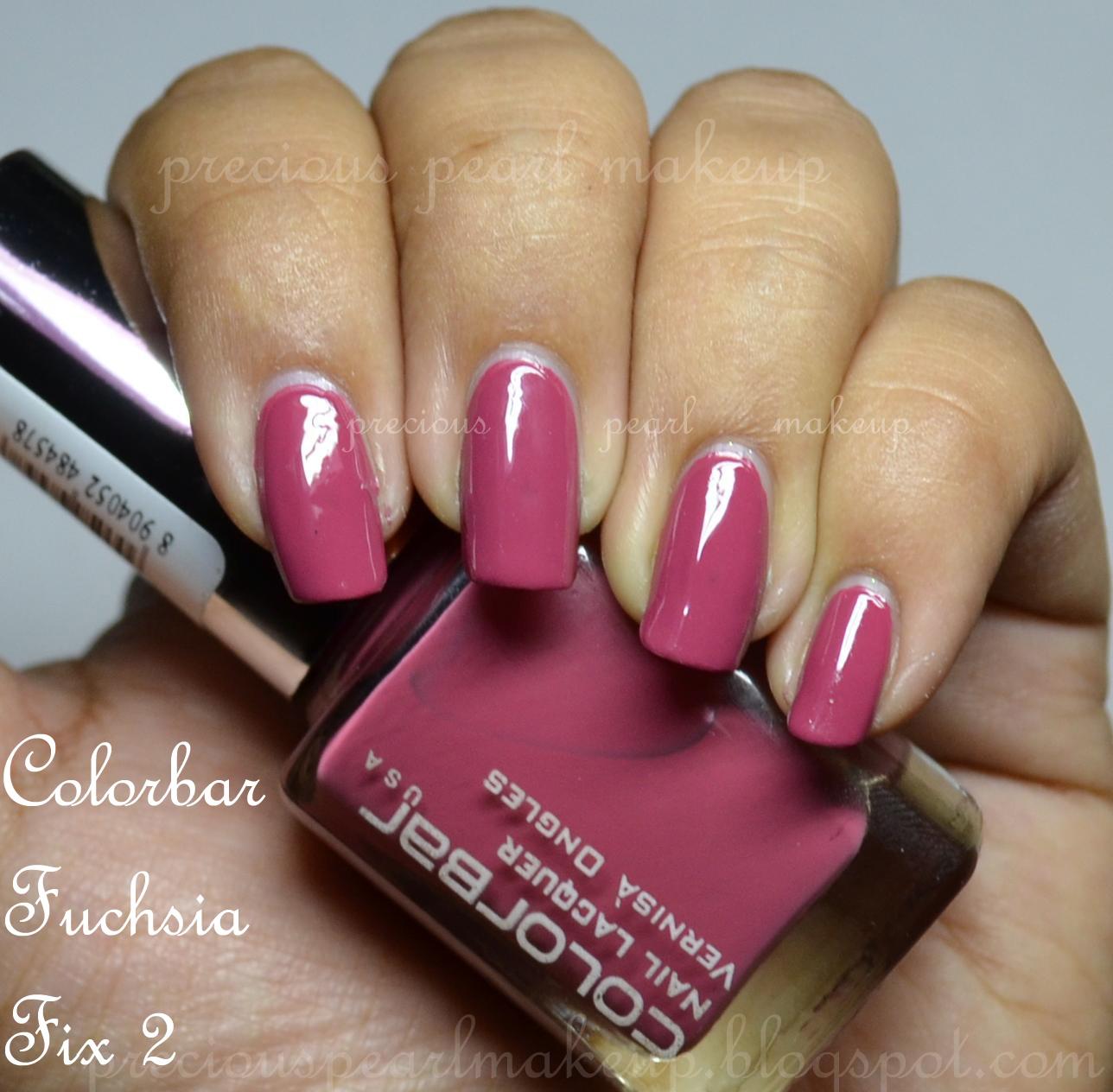 preciouspearlmakeup: Colorbar Nail Lacquer Fuchsia Fix 2