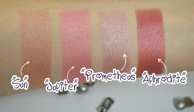 BH Cosmetics Galaxy Chic Baked Eyeshadow Palette Swatches