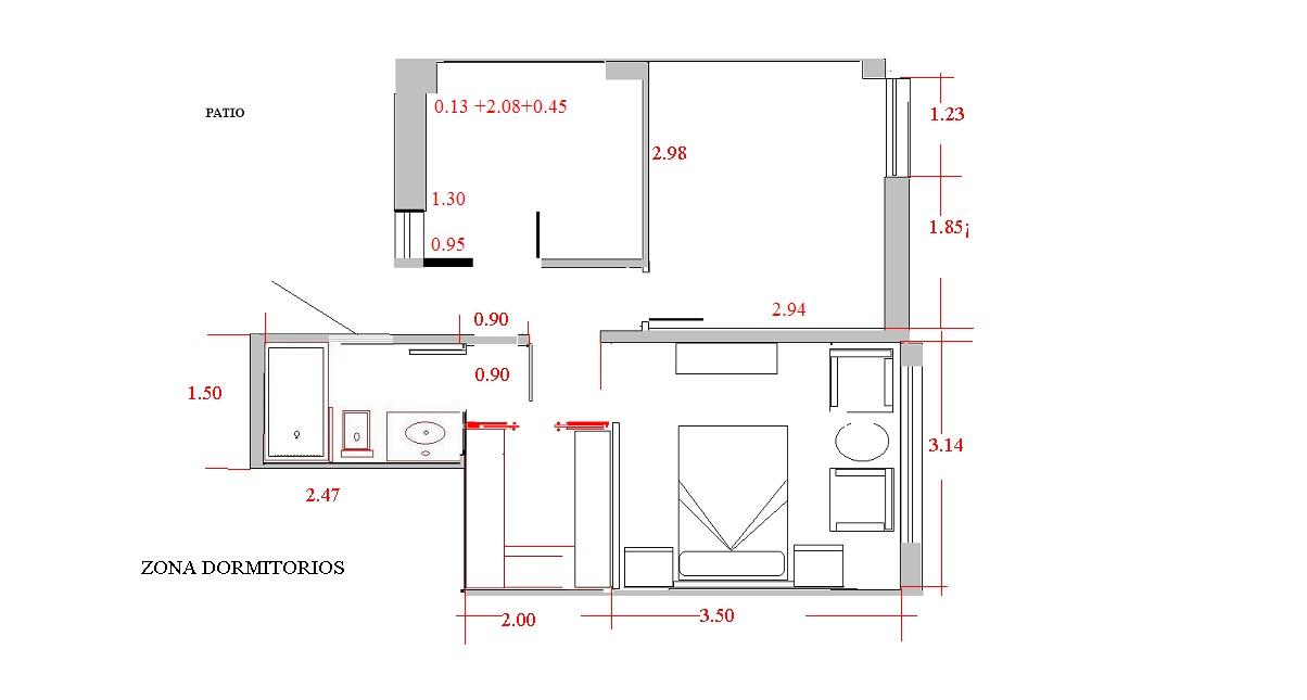 Baños Dormitorio Principal: Torga: Interiorismo para todosUna suite en el dormitorio principal