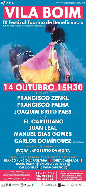 VILA BOIM (PORTUGAL) 14-10-2014 IX FESTIVAL TAURINO BENÉFICO.