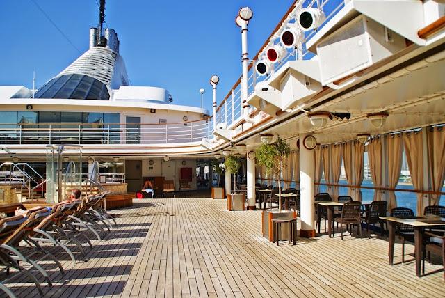 Soldekk på Silversea cruise