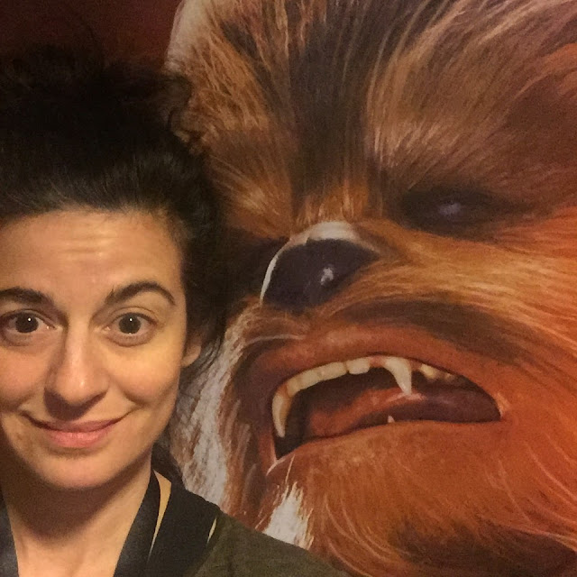 Leyla and Chewbacca at Star Wars Marathon