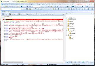 Screenshot Penggunaan phpDesigner