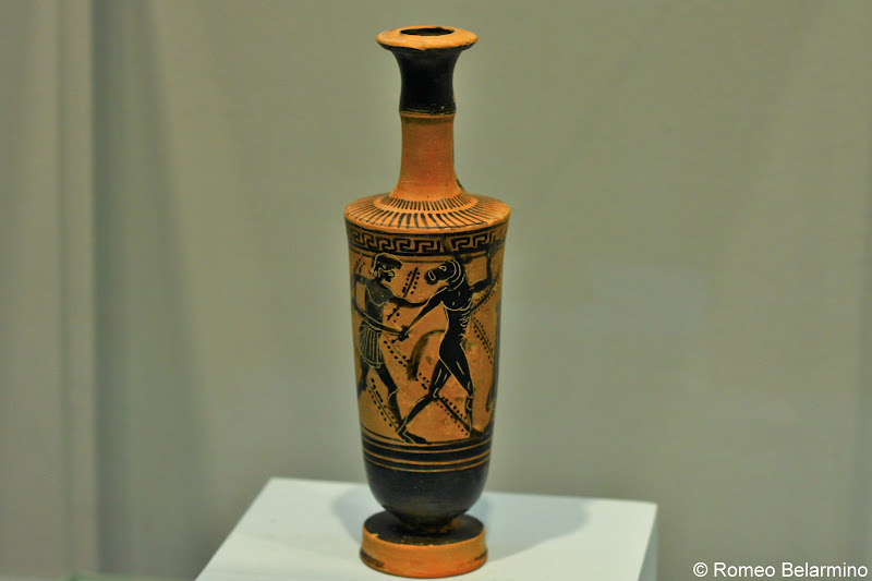 Theseus Slaying the Minotaur Lekythos Heraklion Archaeological Museum Things to Do in Crete
