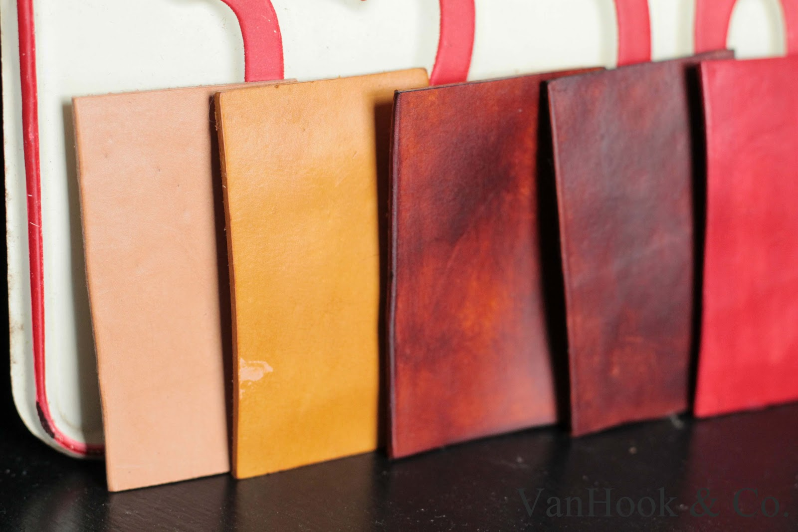VanHook Co Leather Dye Colors