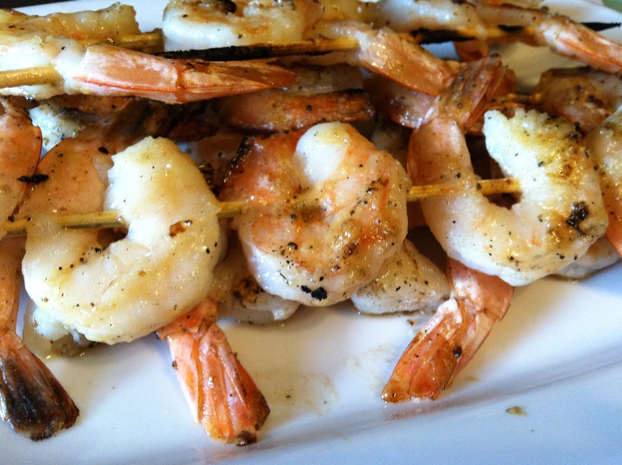sauce garlic shrimp parmesan polenta stacks with brown butter sage ...