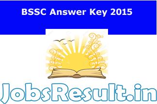 BSSC Answer Key 2015