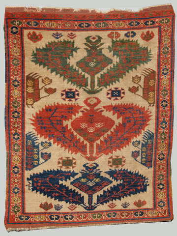 Here Is A Great Looking, All Finished Fake Of A Late 19th Century Southwest  Iranian Gabbeh Rug.