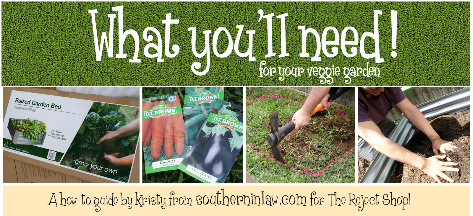 Southern in law how to make your own raised veggie patch for Creating a vegetable garden