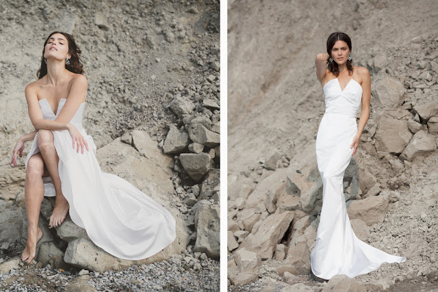 chic, minimal wedding gown by And For Love