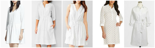 Mango Flared Shirt Dress $29.99 (regular $59.99)  Gap Seersucker Shirtdress $34.99 (regular $79.95)  Gap Dobby Fit & Flare Shirtdress $41.99 (regular $69.95) also in navy  Jessica Howard Linen Shirt Dress $59.40 (regular $99.00)  J. Crew Factory Cotton Shirtdress with Belt $69.50 (regular $89.50)