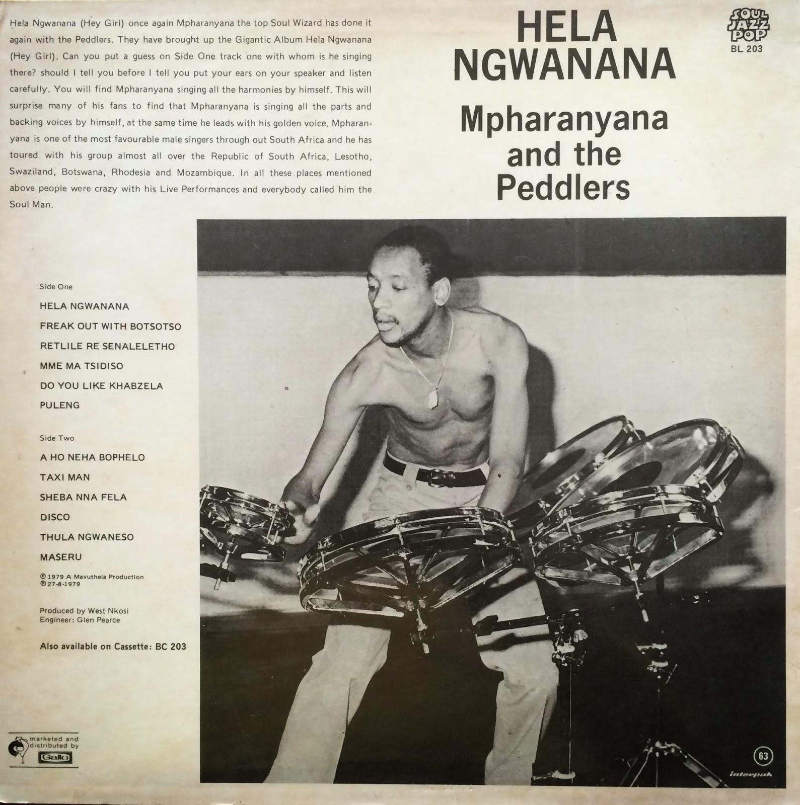 Mpharanyana And The Peddlers Tse Hlwahlwa Tsa