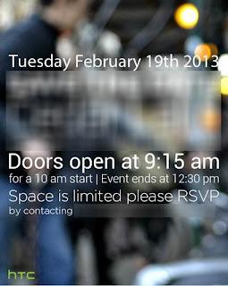 HTC Press Event Invitation