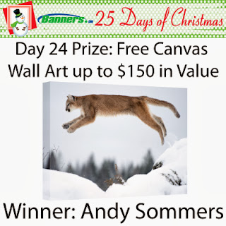 Banners.com 25 Days of Christmas Giveaway - Day 24 Winner