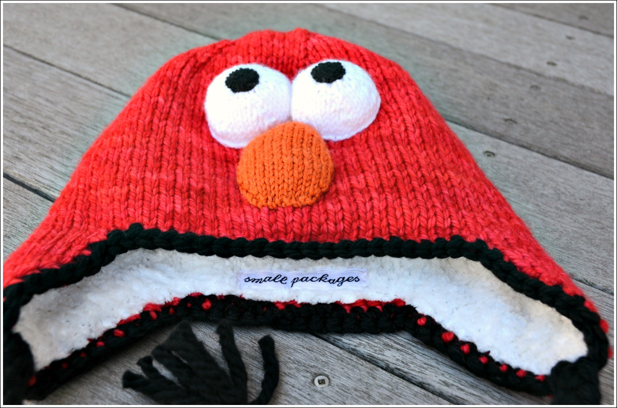 Elmo hat small packages knits the eyes are nose were made completely by winging it took a few tries but ultimately i am pleased with the outcome all were knit using cascade220 bankloansurffo Gallery