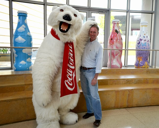Coca-Cola Polar Bear and Travis, World of Coca-Cola