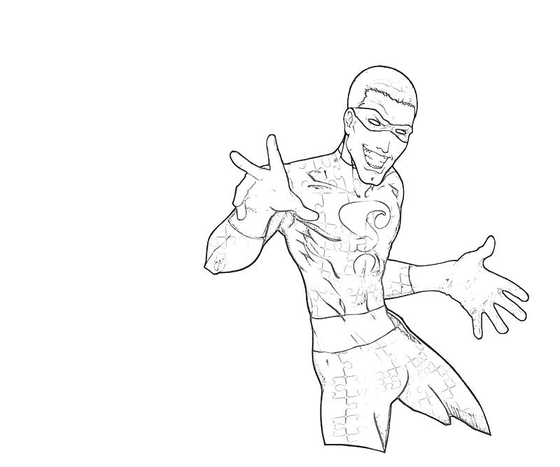 the riddler coloring pages - photo#15