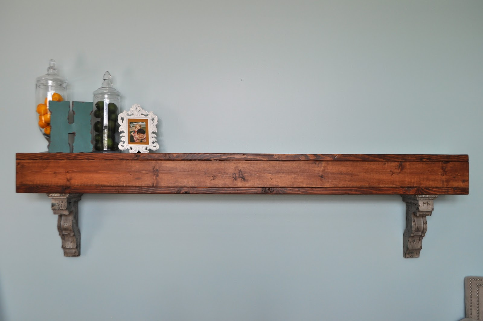Dad built this living room shelf for Living room shelves