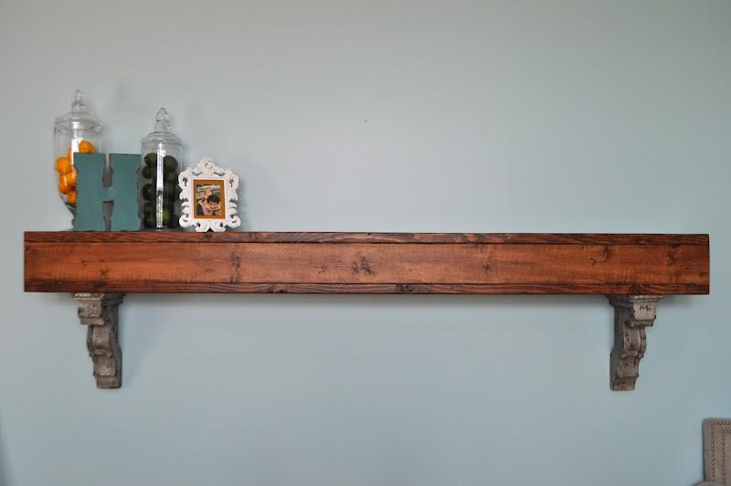 Rustic Living Room Wall Shelves