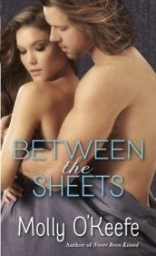 Cover description, Between the Sheets: A man and a woman embrace naked and they are covered by bed sheets