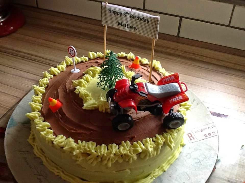Raw Baking Quad Bike Birthday Cake