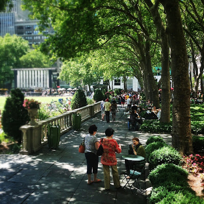 Bryant Park in New York City in the summer