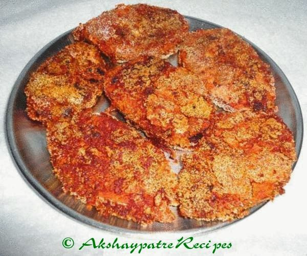 Surmai or king fish fry recipe iswan fry fish fry with for King fish recipe