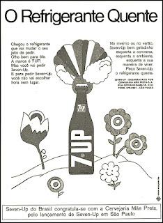 refrigerante Seven-Up,  reclame década de 70;  propaganda década de 70; Brazil in the 70s; Reclame anos 70; História dos anos 70; Oswaldo Hernandez;