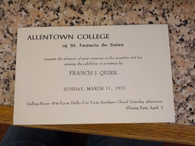 DeSales University Art Exhibit of Francis J. Quirk Paintings Invitation