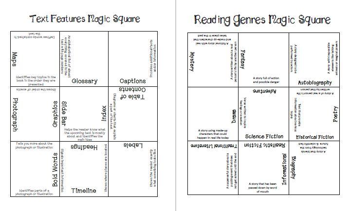 Magic Squares Supporting ELA Vocabulary Concepts