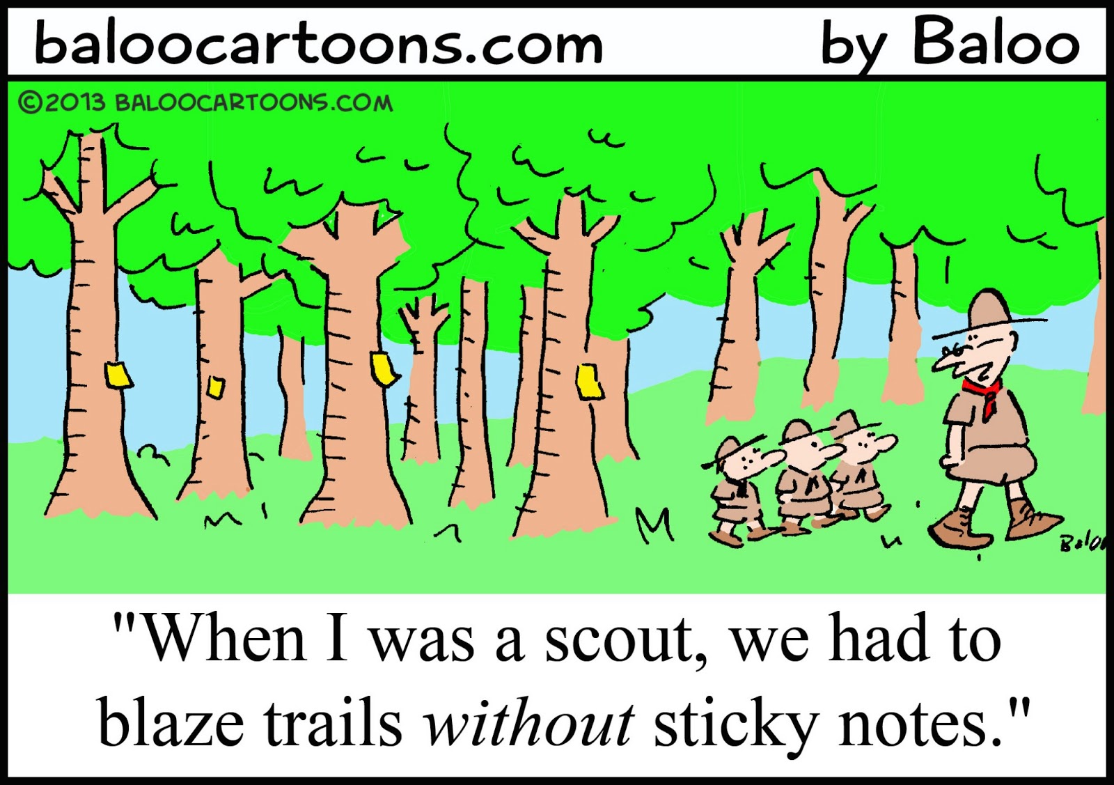 Funny Boy Scout Cartoons
