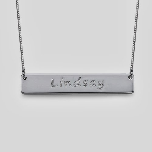 Bar Necklace in Silver