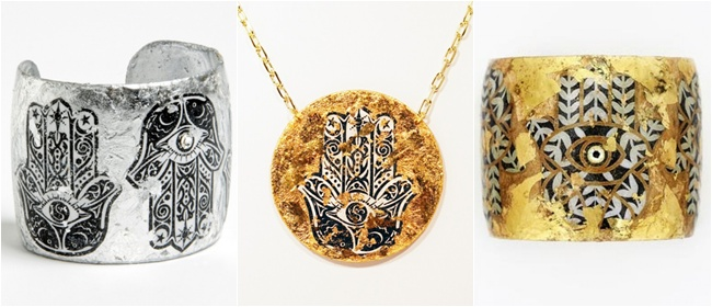 EVOCATEUR is a jewelry line made from the high quality 22K gold leaf as well as sterling silver leaf. Founder and designer Barbara Ross-Innamorati. Unique jewelry. Most beautiful jewelry.Evocateur Shangri-la line.