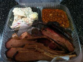 Bluebonnet Bar-B-Q BBQ Barbecue Barbeque Bar-B-Que Whole Foods Dallas DFW Brisket Ribs Sausage Beans Potato Salad