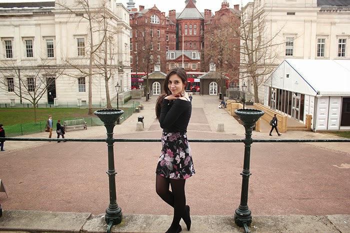 Handmade skirt DIY Floral Flowers London UCL fashion