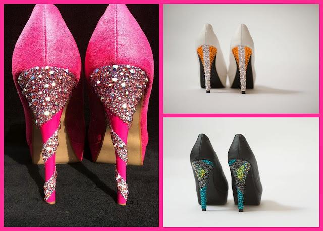 K James Couture Swarovski Embellished Couture Heels